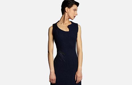 Kamera Obscura Robe Circuit Harris Tweed dark blue dress