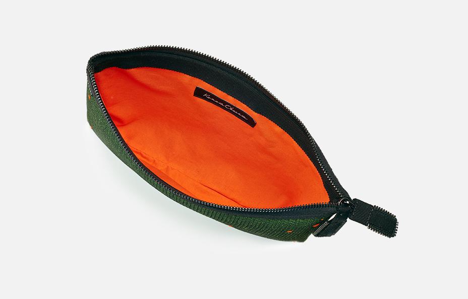 Kamera Obscura Black Leaf Clutch Bag-Feuille Noire