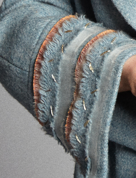 Kamera-Obscura-Cuff-Manteau-Neige-Harris-Tweed-couture-handmade-clothing