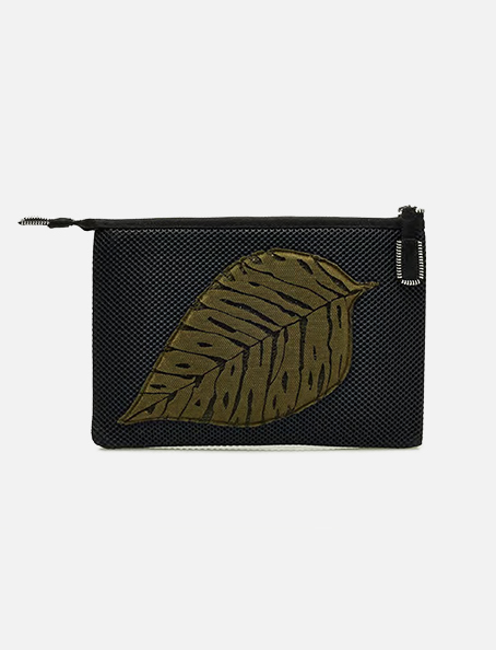 Kamera Obscura Green Leaf Clutch Bag Feuille Marron